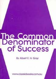 The common denominator of success